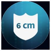 6 cm Protective area