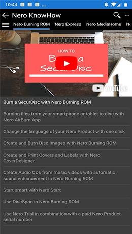 Ihr digitaler Helfer für rundum gelungene Multimedia-Projekte mit Nero KnowHow App.