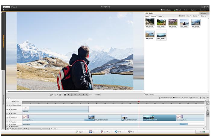 Fesseln Sie per erweiterter Videobearbeitung Ihr Publikum mit unzähligen Effekten wie Tiltshift, spannenden Übergängen, Keyframe-Animationen und vielen mehr.