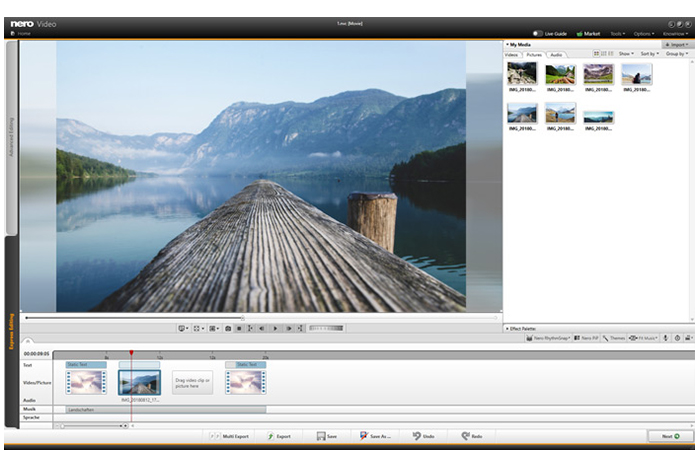 Save time with the Express Mode: edit your videos faster and more effectively than ever before!