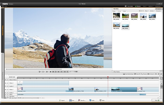 Captivate your audience with countless effects, such as tiltshift, exciting transitions, keyframe animations and much more, by using the advanced video editing mode.