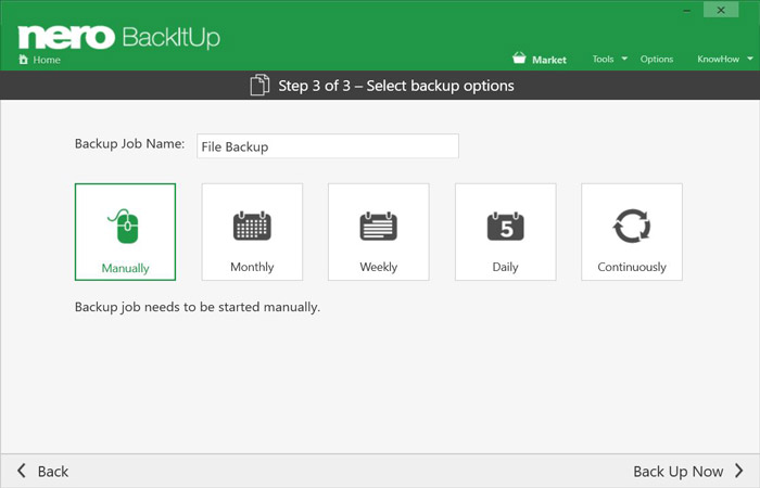 With Nero BackItUp 2019, you can now run your backups automatically. Sit back and relax!