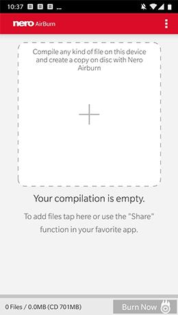 Grenzenloses Brennen mit Nero AirBurn App.