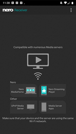 Watch movies from your PC on your mobile device with Nero Receiver App.