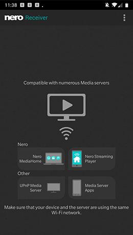 Filme vom PC auf dem Mobilgerät ansehen mit Nero Receiver App.