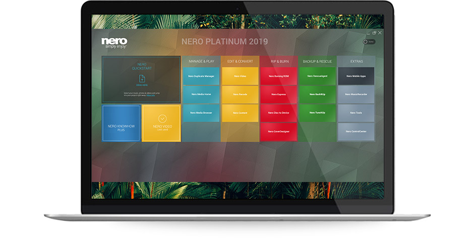 Nero 2019 Platinum Suite - Launcher